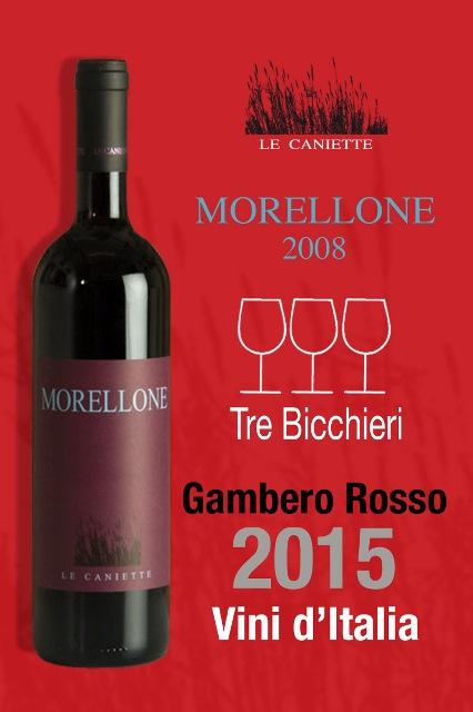 Morellone 2008 v průvodci Vini d'Italia 2015